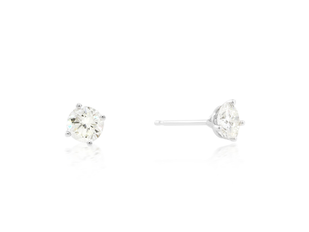 Trabert Goldsmiths 0.89 I/JVS1 Diamond Stud Earrings