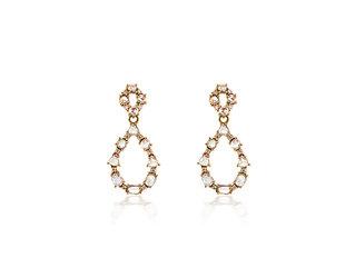 Rose Cut Diamond Drop Earrings E1992