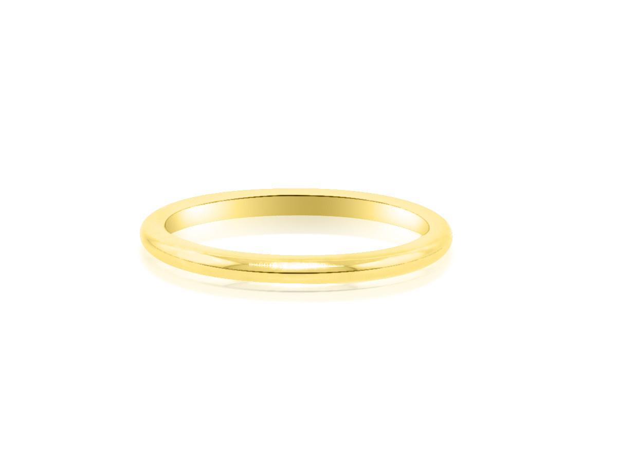 Trabert Goldsmiths Yellow Gold Aura Wedding Band