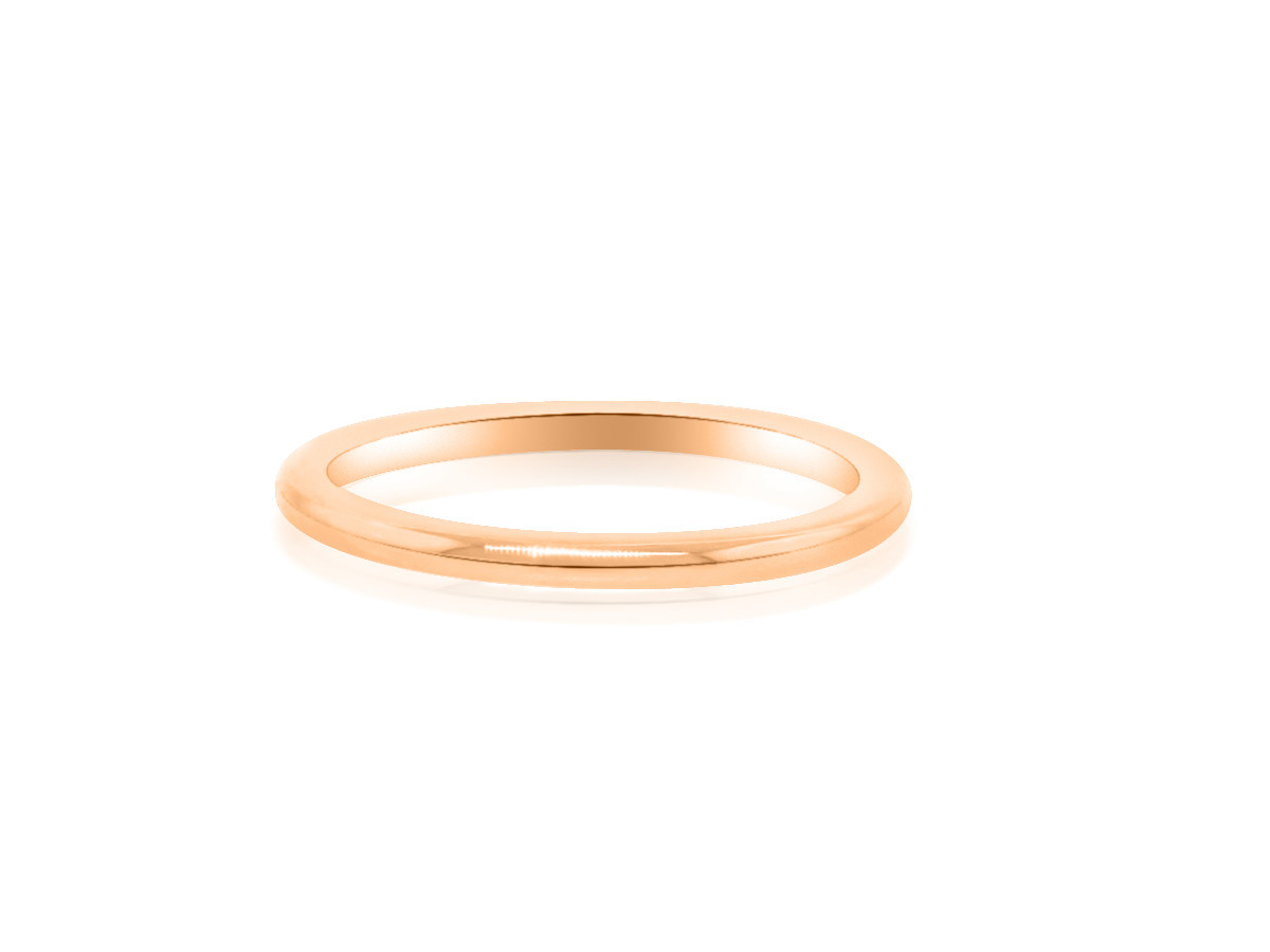 Trabert Goldsmiths Rose Gold Aura Wedding Band