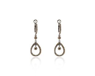 Champagne Diamond Pear Drop Earrings E2013