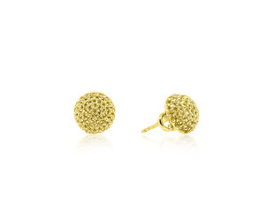 Trabert Goldsmiths Yellow Diamond Dome Y/G Earrings E2019
