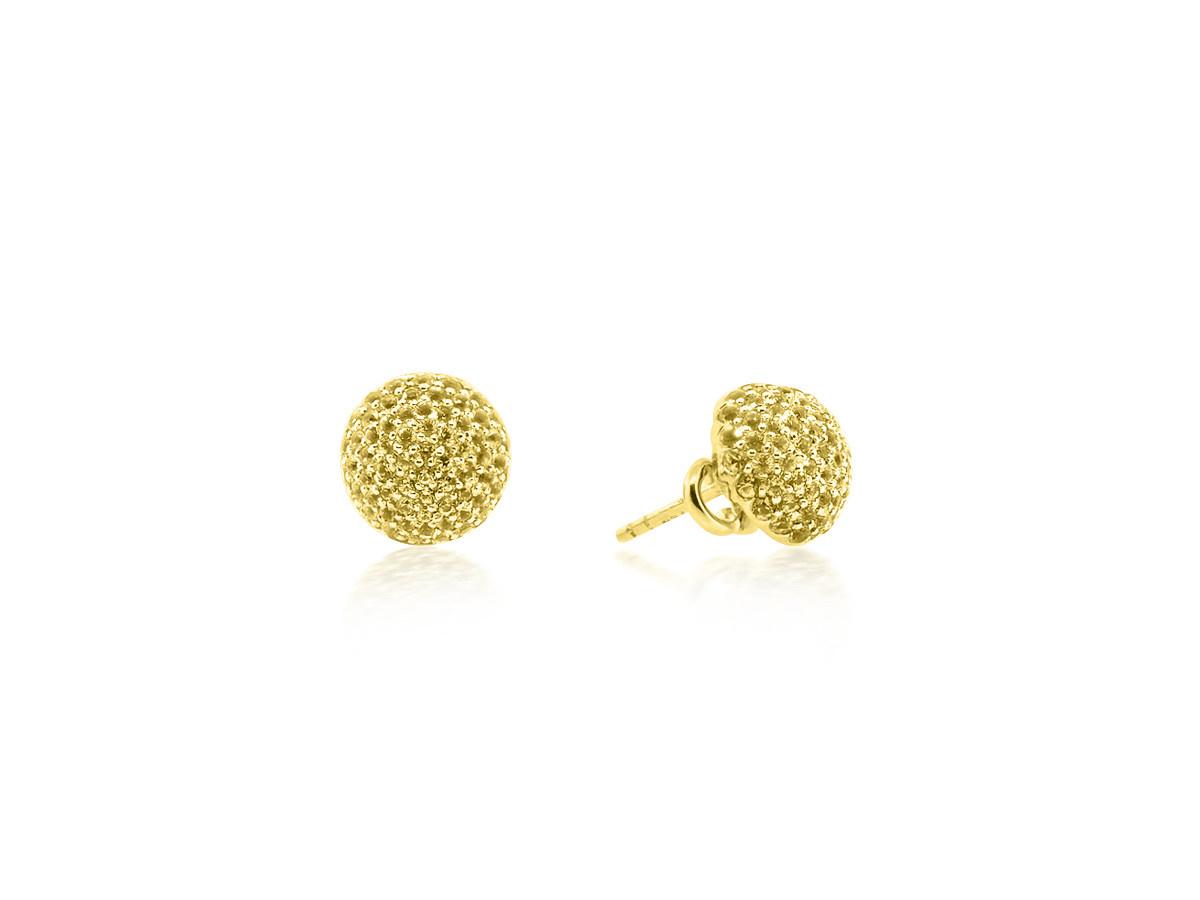 Trabert Goldsmiths Yellow Diamond Dome Yellow Gold Earrings