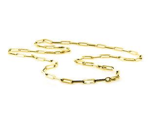 Trabert Goldsmiths Yellow Gold Medium Oval Link Necklace E2028