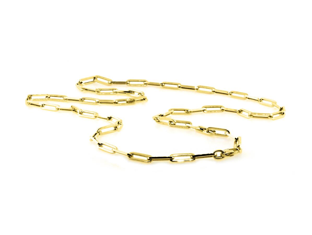 Trabert Goldsmiths Yellow Gold Medium Oval Link Necklace