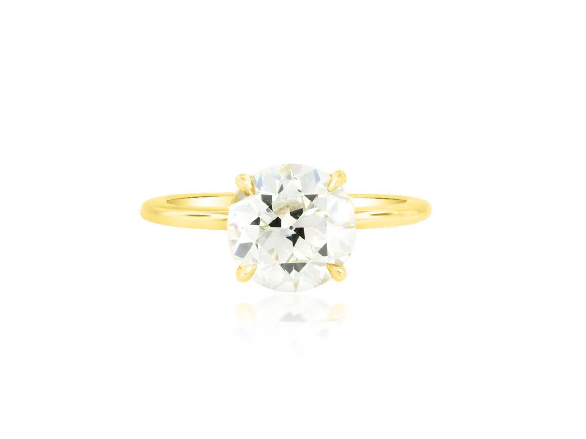 Trabert Goldsmiths 2.34ct JVVS2 Old European Diamond Aura Ring