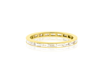 Gamma Creations Gold Baguette Diamond Eternity Band GAM21