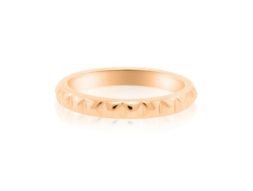 Gamma Creations Spike Pattern Rose Gold Band GAM24