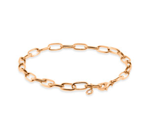 Liven Oval Link Rose Gold Bracelet LN72