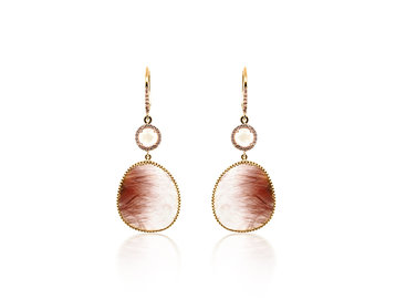 Liven Rutilated Quartz R/M Drop Earrings LN85