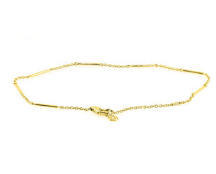 Liven Unity Bar Yellow Gold Bracelet LN76