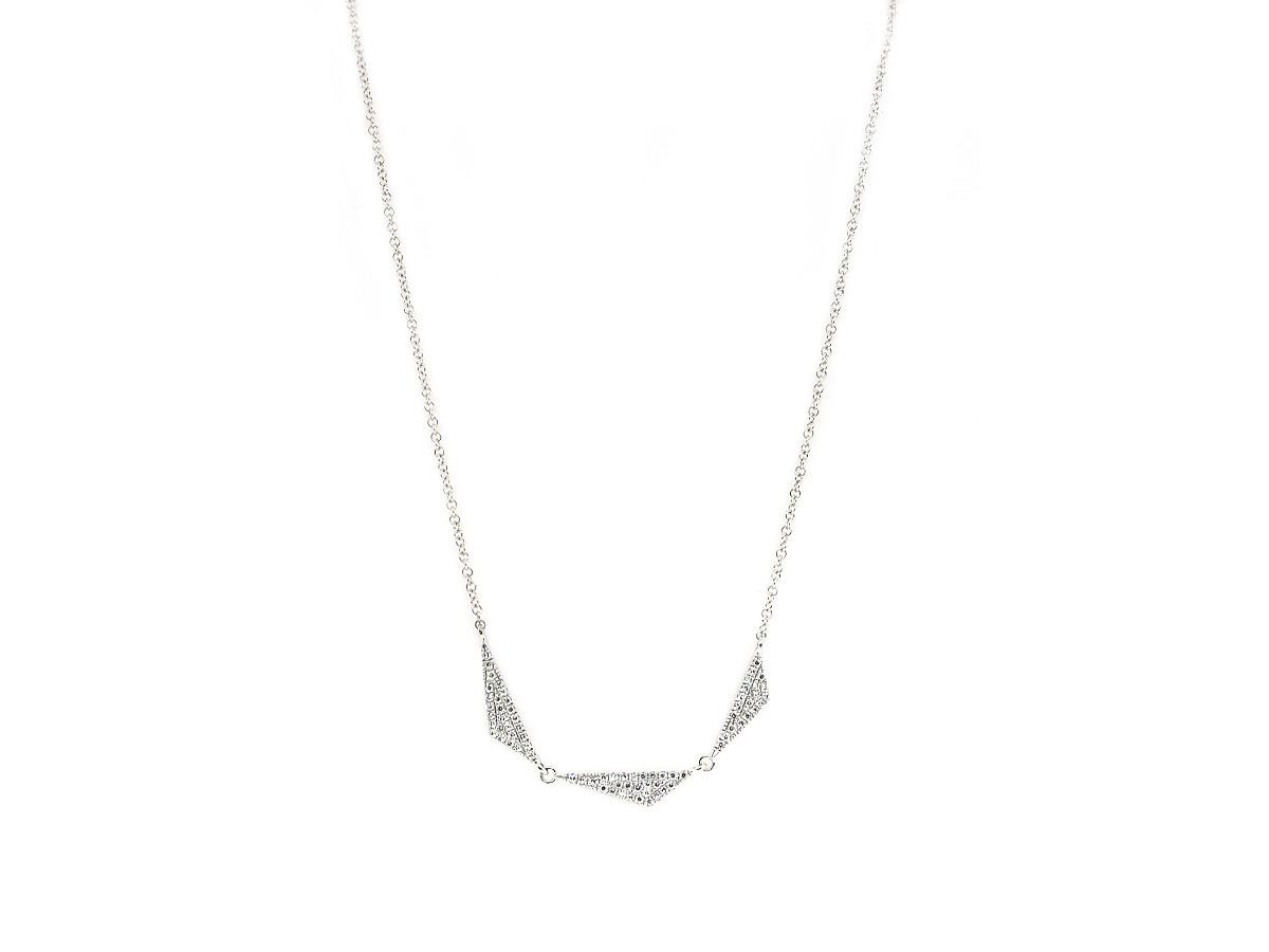 MeiraT Designs Diamond Triangle Necklace