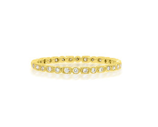 Beverley K Collection Mini Mixed Diamond Eternity Gold Band AB505
