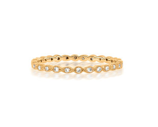 Beverley K Collection Mini Marquise Rose Gold Eternity Band AB506