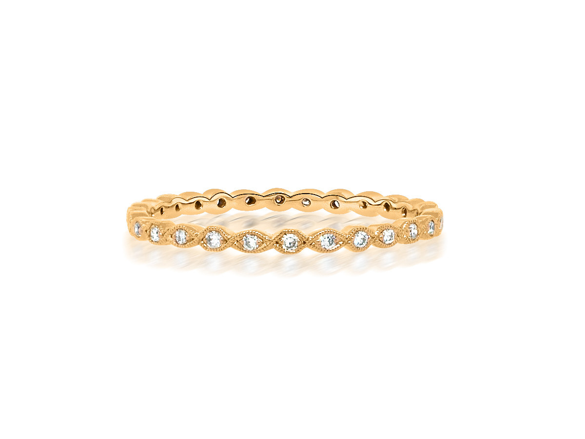Beverley K Collection Mini Marquise Rose Gold Eternity Band
