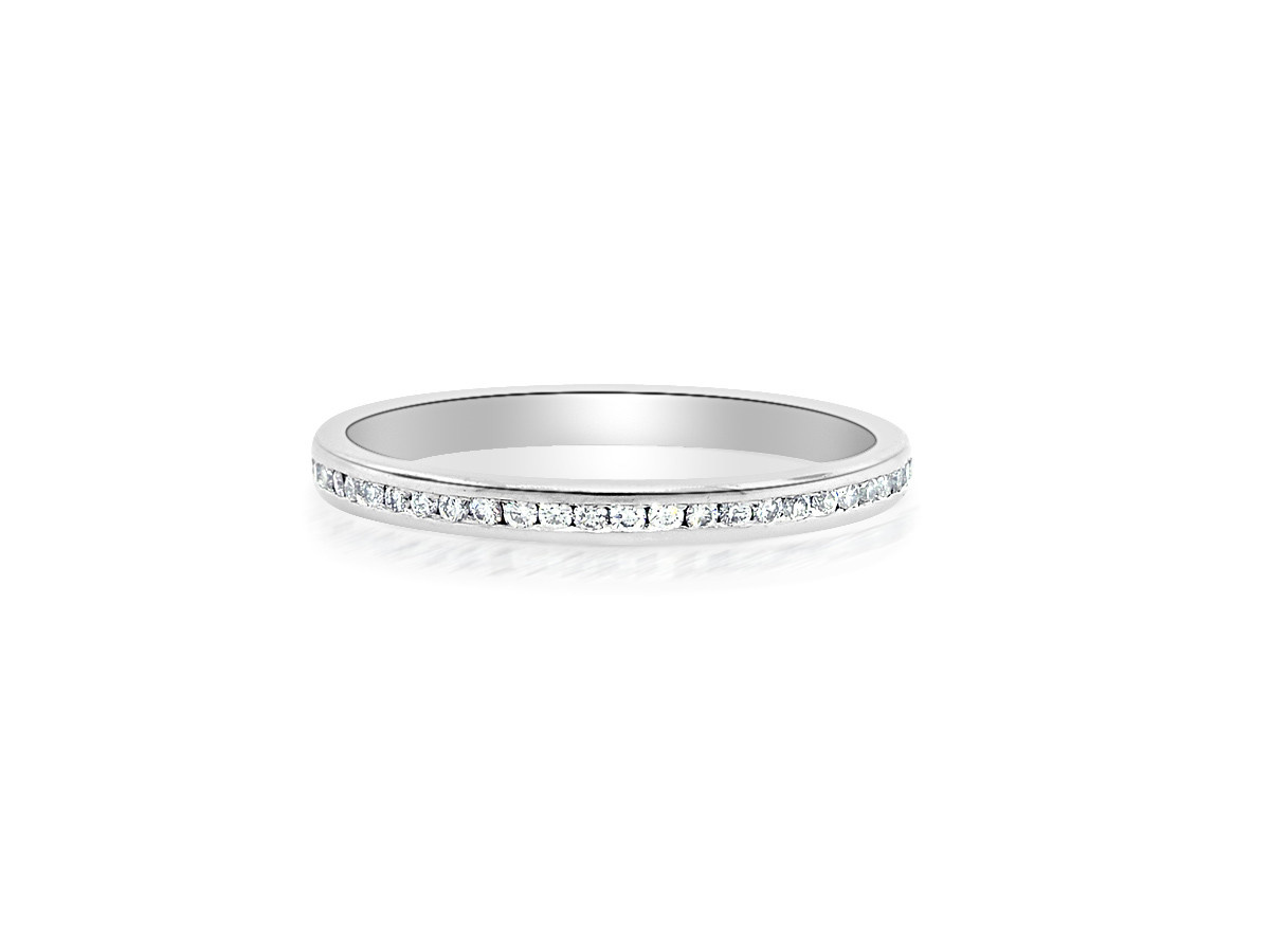 Trabert Goldsmiths Channel Set Diamond Eternity Band