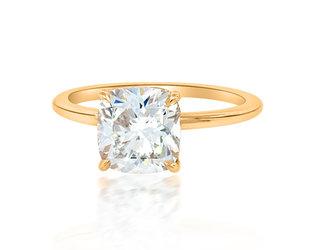 Trabert Goldsmiths 2.12ct GSI2 Cushion Diamond Aura Ring E2055