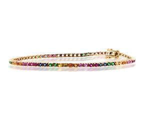 Trabert Goldsmiths Rainbow Sapphire Tennis Bracelet E2063
