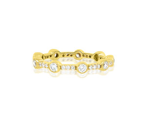 Beverley K Collection Bezel Diamond and Pave Eternity Band AB501