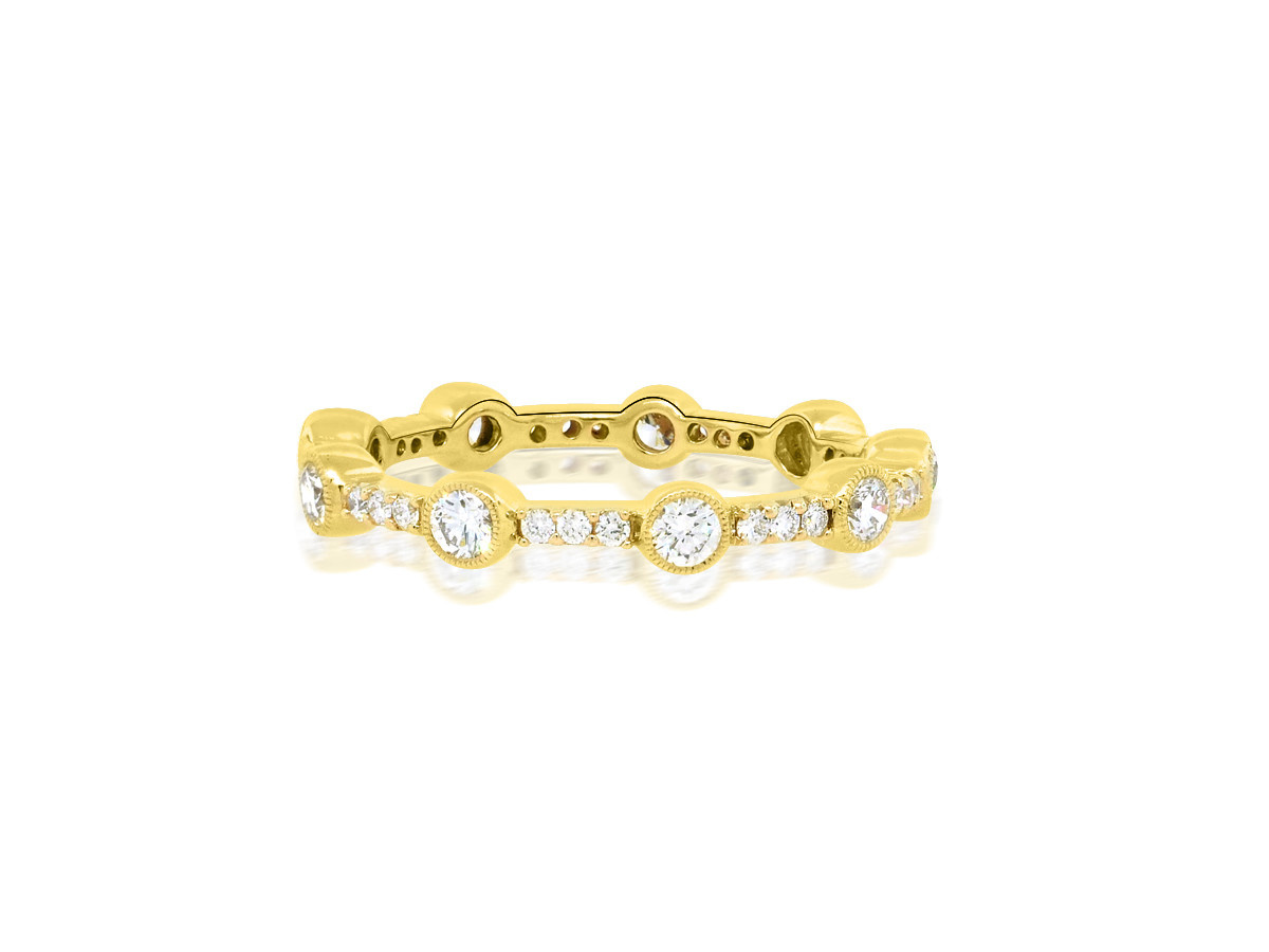 Beverley K Collection Bezel Diamond and Pave Eternity Band