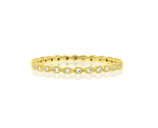 Beverley K Collection Mini Marquise Pave Gold Eternity Band AB502