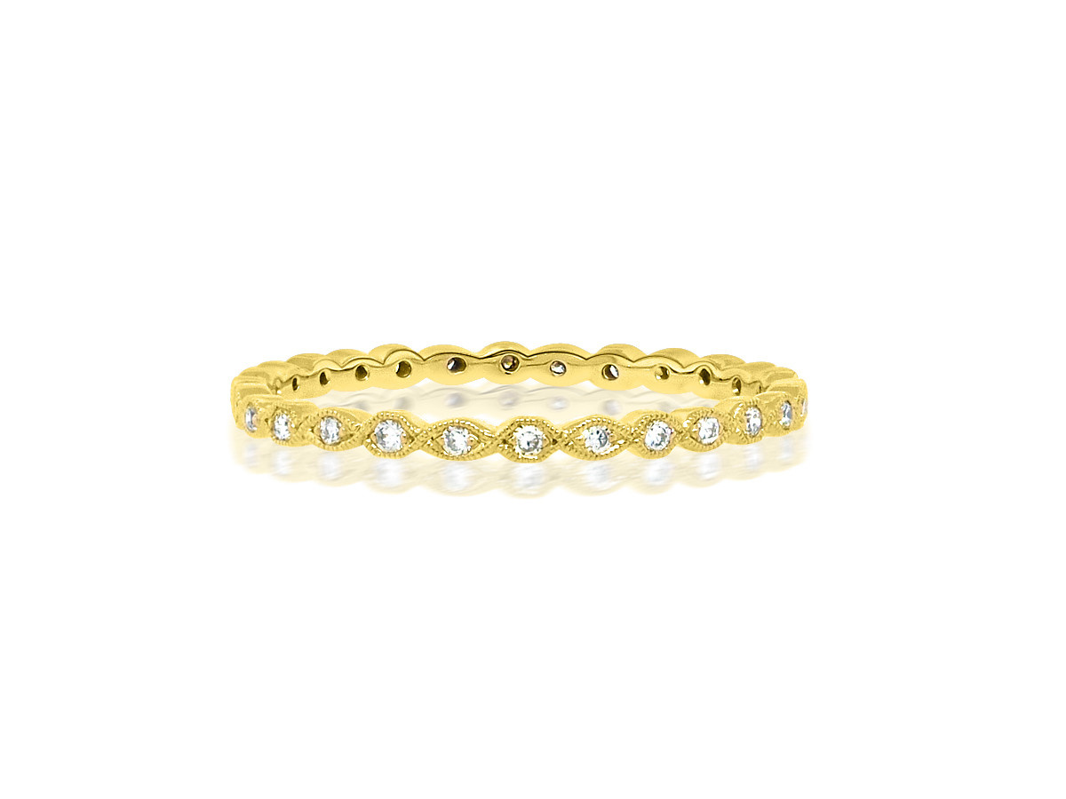 Beverley K Collection Mini Marquise Pave Gold Eternity Band