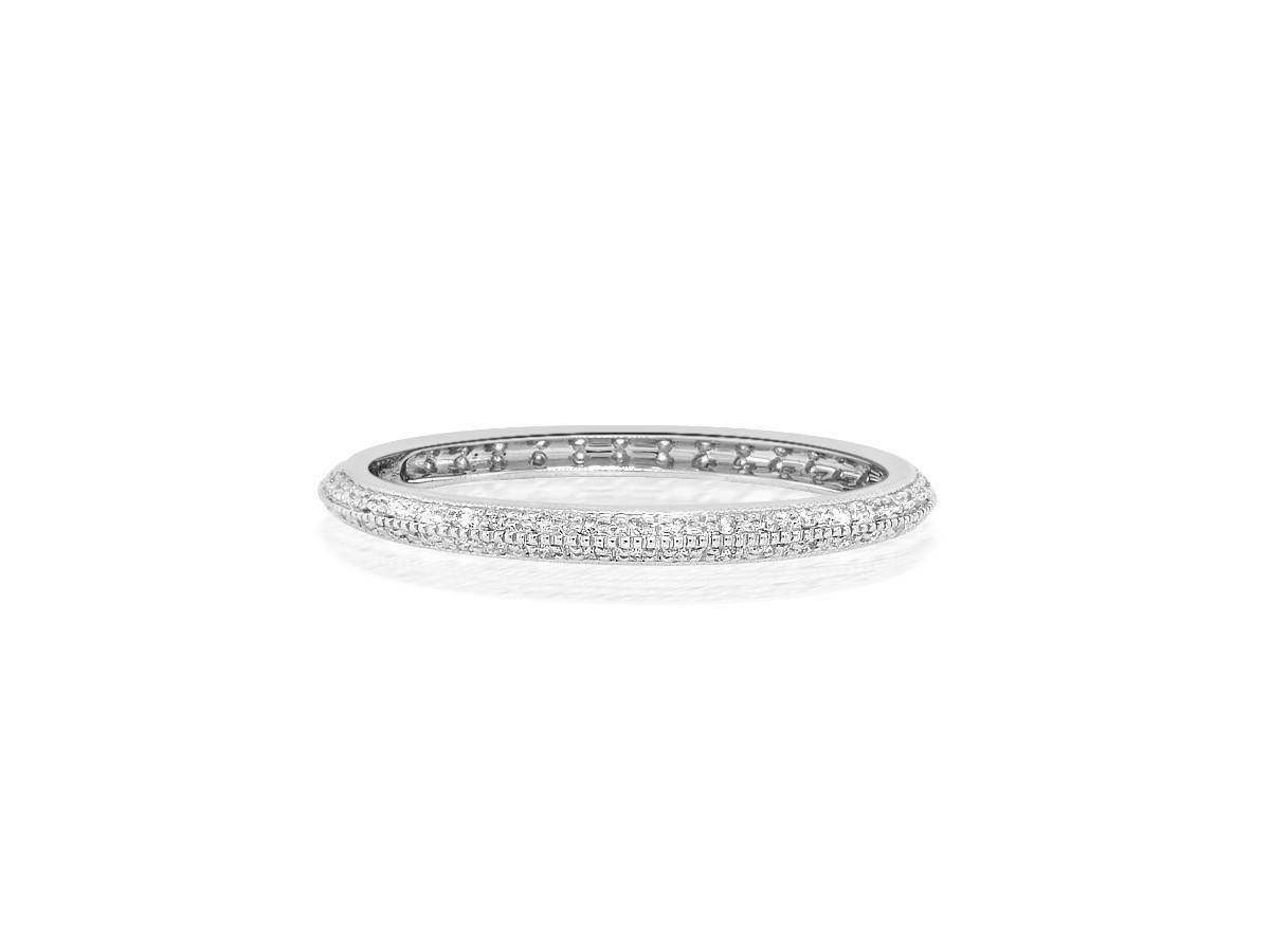 Beverley K Collection Beveled Pave Diamond Eternity Band
