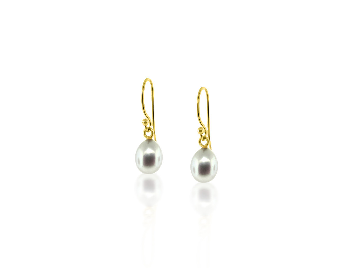 Trabert Goldsmiths Pearl Drop Earrings