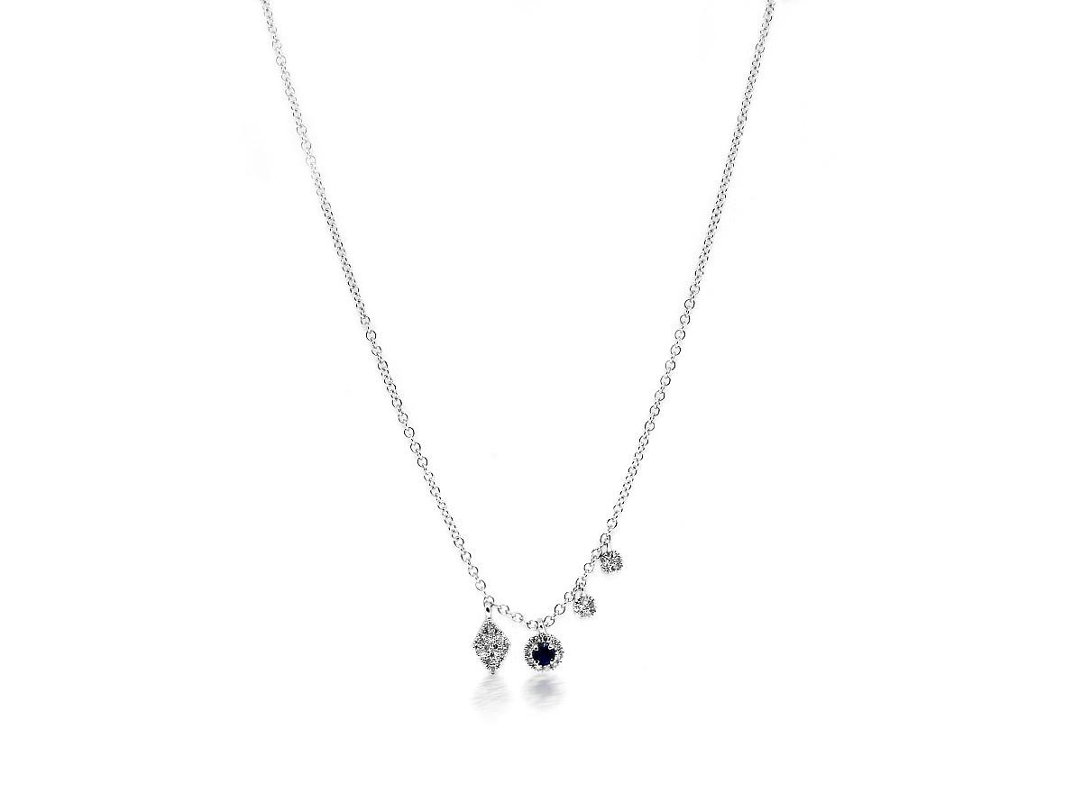 MeiraT Designs Diamond & Sapphire Charm Necklace