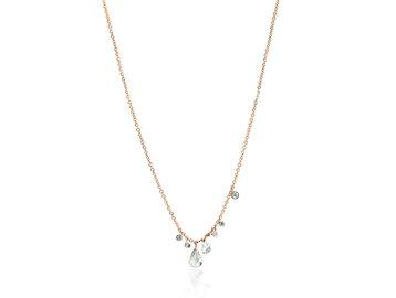 MeiraT Designs Rose Cut Diamond Charm Necklace MRT16