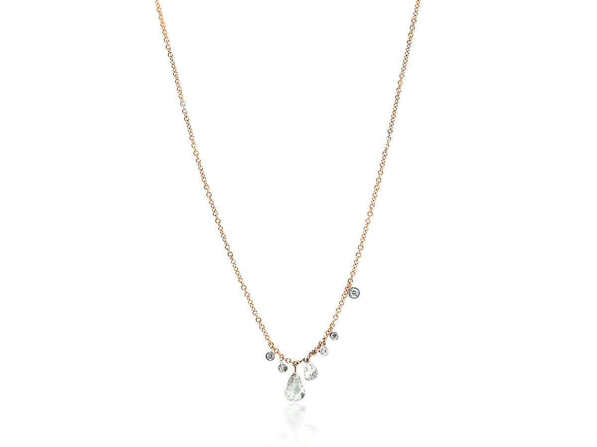 MeiraT Designs Rose Cut Diamond Charm Necklace