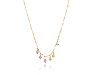 MeiraT Designs Diamond Pave Charm Necklace MRT19