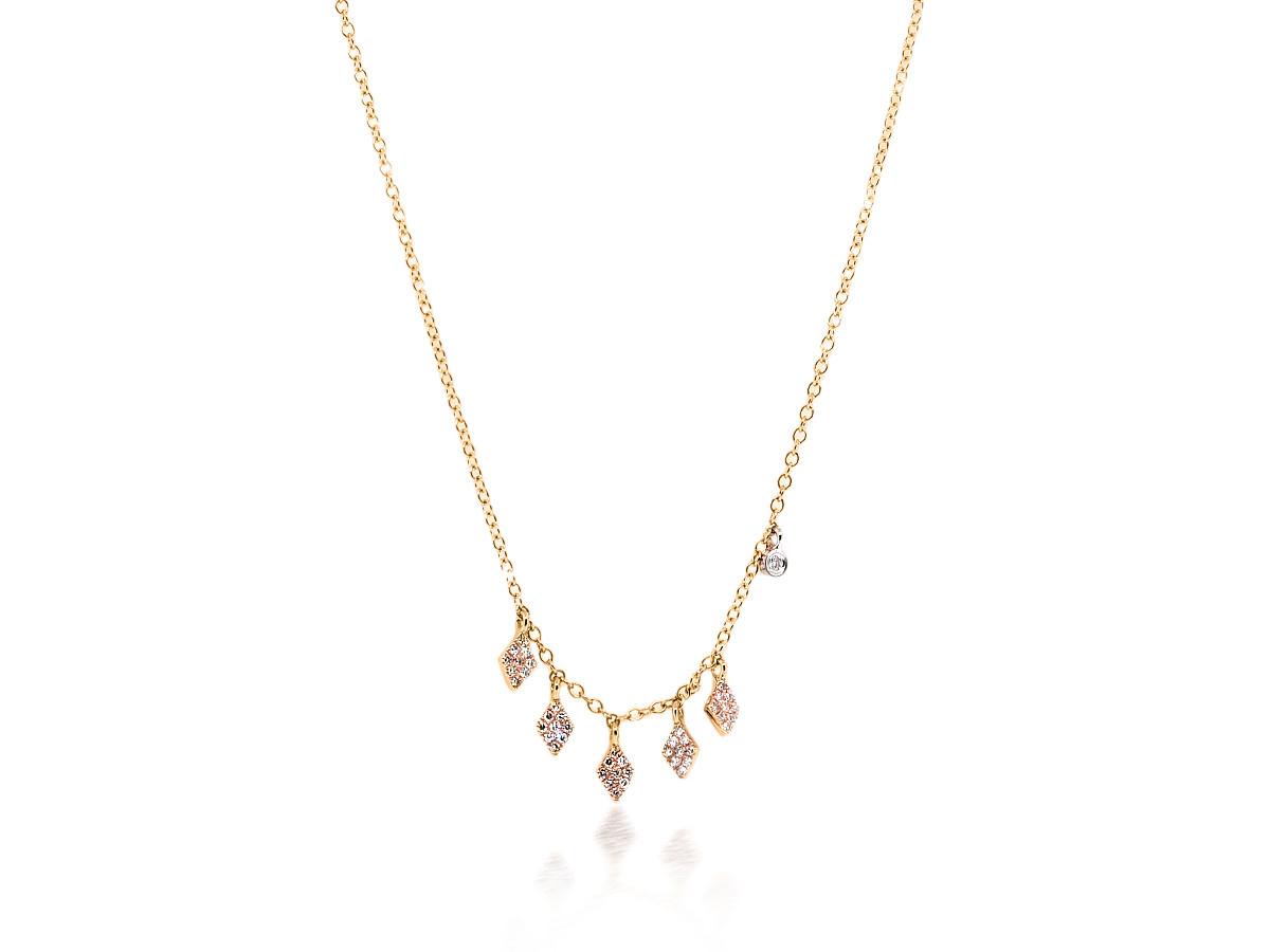 MeiraT Designs Diamond Pave Charm Necklace