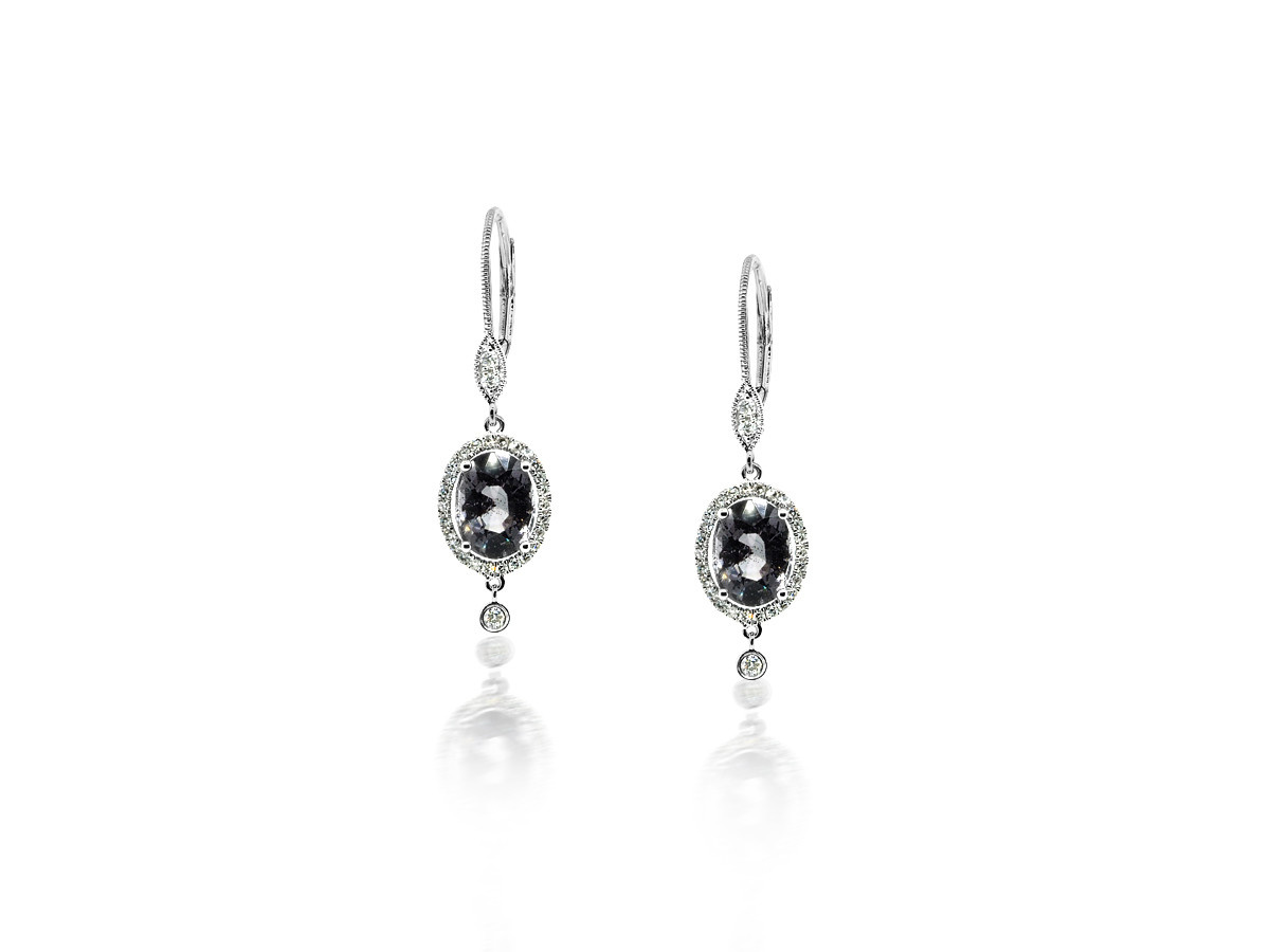 MeiraT Designs Spinel Pave Halo Drop Earrings