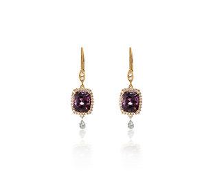 MeiraT Designs Purple Spinel Diamond Earrings MRT23