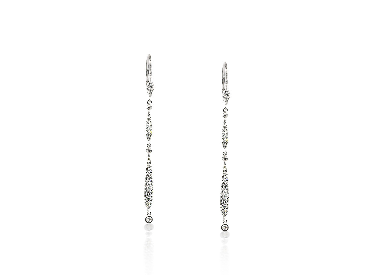 MeiraT Designs Diamond Pave Drop Earrings