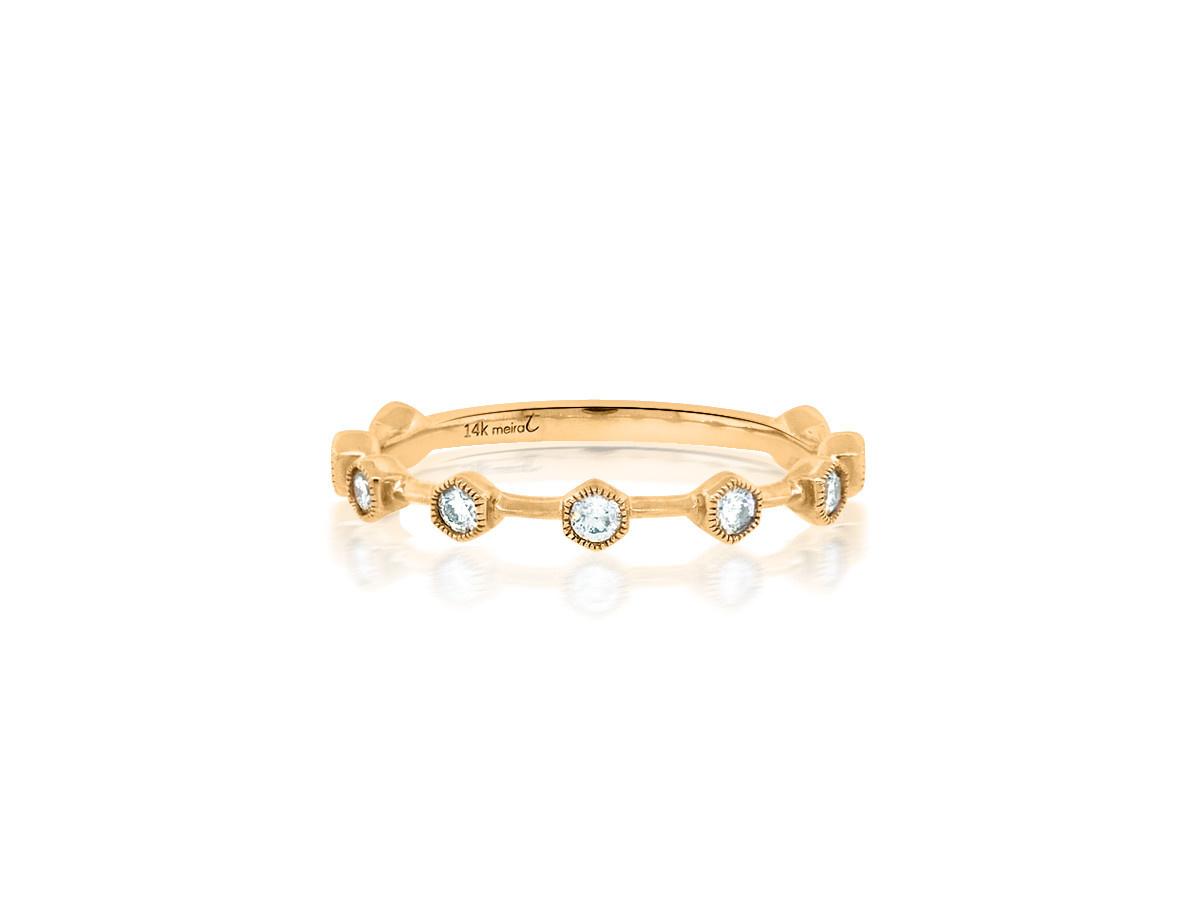 MeiraT Designs Honey Pod Diamond Rose Gold Ring