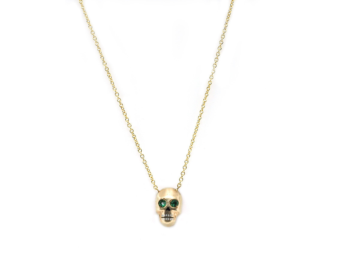 Trabert Goldsmiths Antique Victorian Gold Skull Pendant