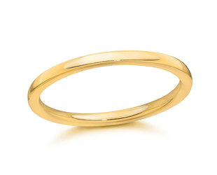 Trabert Goldsmiths 18ky Gold 2mm Half Round Band E2112