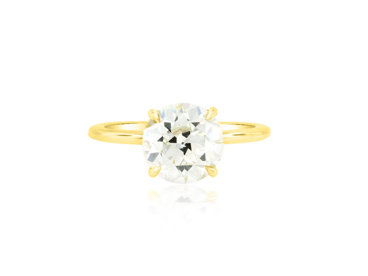 Trabert Goldsmiths 2.06ct IVS1 Old Euro Cut Diamond Aura Ring