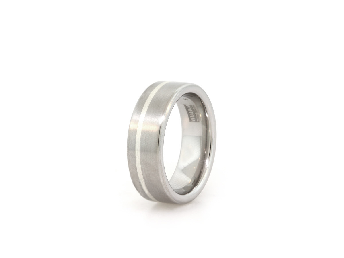 Vitalium and Sterling Silver Band