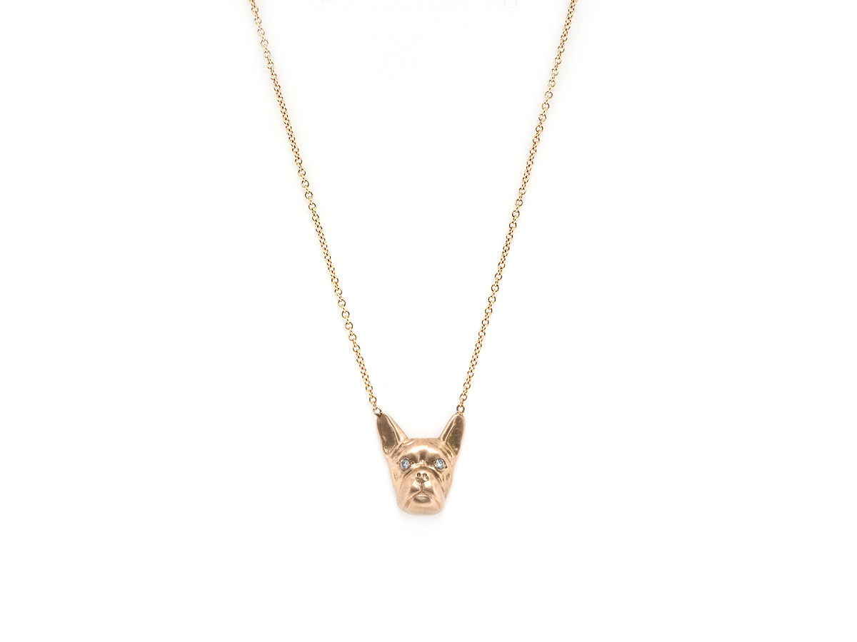 French Bulldog Rose Gold Remy Pendant