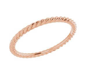 Trabert Goldsmiths Delicate Rose Gold Rope Band E1914