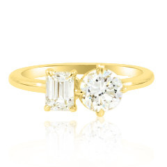Trabert Goldsmiths 1.30ct twt D-EVS1 Twin Star Diamond Ring