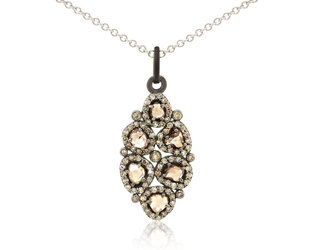 Trabert Goldsmiths Diamond Cluster Pendant E2124