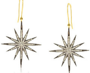 Trabert Goldsmiths Diamond Pave Starburst Earrings E2127