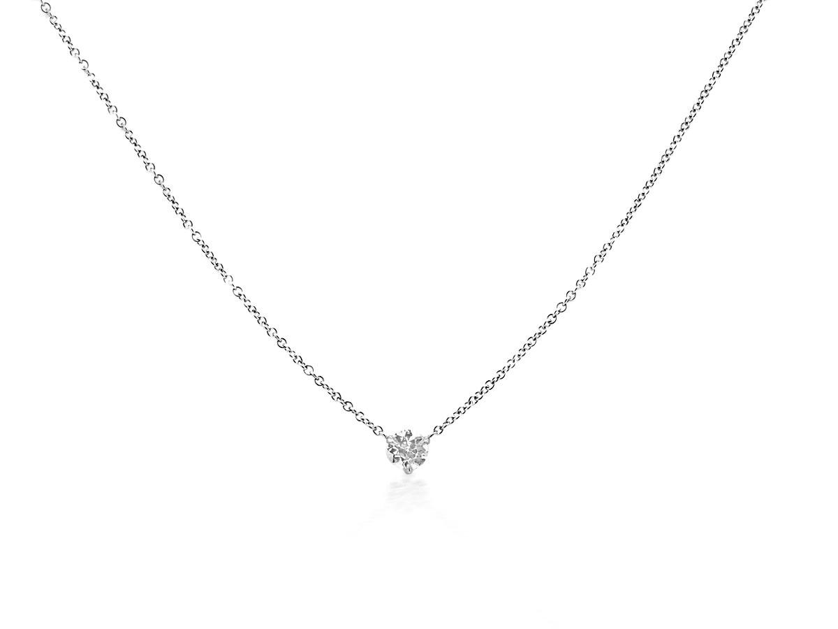 Trabert Goldsmiths .31cts Diamond White Gold Pendant