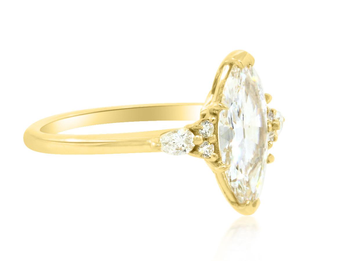 Trabert Goldsmiths 1.24ct EVS2 Marquise Diamond Vela Ring