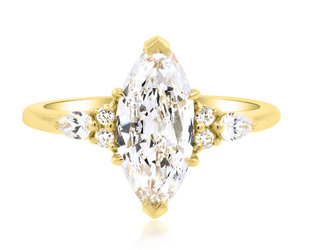 Trabert Goldsmiths 1.24ct EVS2 Marquise Diamond Vela Ring E2130