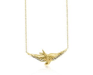 Trabert Goldsmiths Antique Victorian Gold Bird Necklace E2085